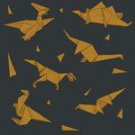 origami szare